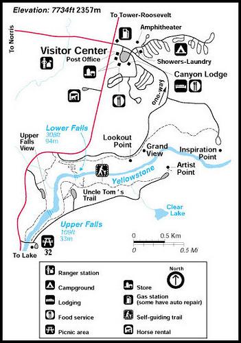 Canyon Village Yellowstone Map - BestofYellowstone.com on