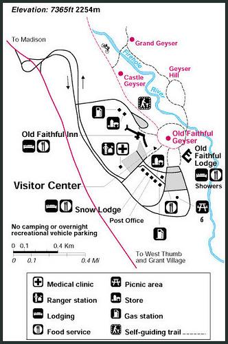 Old Faithful Village Yellowstone Map - BestofYellowstone.com on mammoth ski, mammoth utah, long valley caldera map, ski resort map, lake county california map, trail map, mammoth skatepark, mammoth yellowstone national park, old faithful yellowstone map,